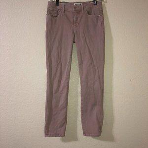 MADEWELL Pink Mauve Skinny Skinny Crop Jeans 27